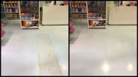 Images of before and after a strip and wax job in a commerical space